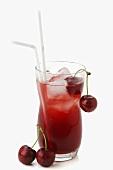 Wild Cherry Cocktail (Wodka, Sekt, Kirschen)
