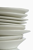 White plates, stacked