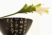 Bowl with Asian characters and flower