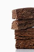 Chocolate bars, stacked