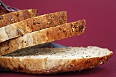 Several slices of granary bread