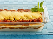 Lasagne in a baking dish