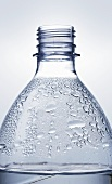 Plastic water bottle with condensation