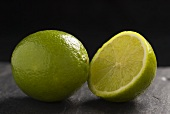 Whole lime and half a lime