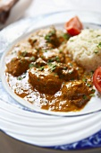 Beef curry with couscous