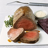 Beef fillet with horseradish