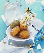 Fish and potato croquettes with herbs