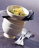 Cabbage and bean salad with pine nuts