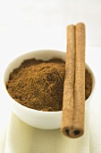 Cinnamon stick and ground cinnamon