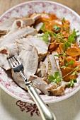 Turkey breast with carrots and parsley