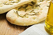 Focaccia with rosemary and salt