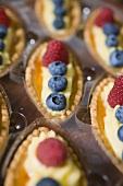 Several berry tartlets (detail)