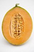 Half a cantaloupe melon