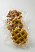 Small waffles, packed in cellophane