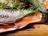 Tail of brook charr with dill