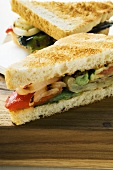 Grilled vegetable sandwiches made with toast