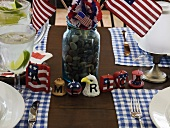 Table laid for 4th of July (USA)