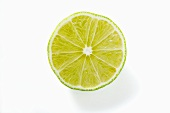 Half a lime (overhead view)