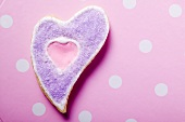 A heart-shaped biscuit for Valentine's Day