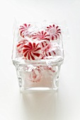 Starlite Mints (peppermints, USA) in glass bowl