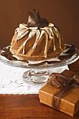 Gugelhupf with chocolate and vanilla cream