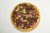 Mince and onion pizza with cheese