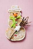 Spiced snowman bisuit