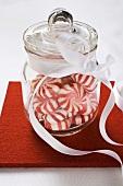 Starlite Mints (USA) in jar with ribbon