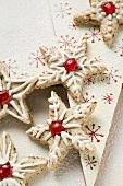 Cinnamon stars with cherries