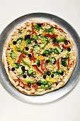 Vegetable pizza (unbaked)