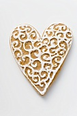 Decorated gingerbread heart