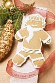 Gingerbread man on box