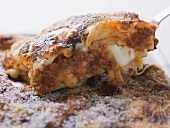 Mince lasagne on server