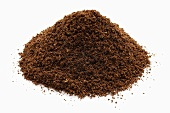 A heap of ground coffee
