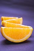 Several orange wedges