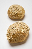 Sesame roll and wholemeal roll with oat flakes