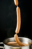 Lifting frankfurters out of hot water