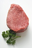 Beef fillet with fresh parsley