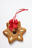 Gingerbread star to hang on the tree