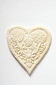 Springerle cookie (heart-shaped)