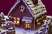 Gingerbread house with atmosphere lighting