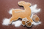 Gingerbread reindeer and acorns