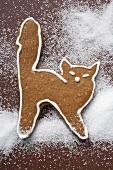 A gingerbread cat