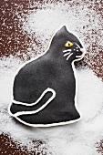 Black gingerbread cat