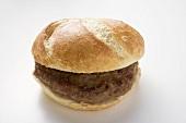 Burger in a bread roll