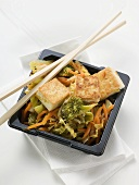 Tofu with vegetables to take away