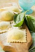 Home-made ravioli