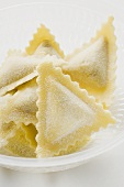 Home-made triangular ravioli