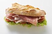 Raw ham sandwich