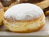 Doughnut with icing sugar